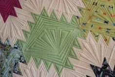 Quilting likes peaks and valleys or even like crystals - nicely done
