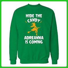 Hide The Candy Adreanna Is Coming Halloween Gift - Sweatshirt Irish_green 3XL - Holiday and seasonal shirts (*Amazon Partner-Link)