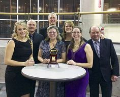 Copper Island Fine Homes celebrates a prestigious award from the Canadian Home Builders' Association Central Interior. Back, from left: Dean Friesen, Greg Vistisen and Tracy Vistisen. Front: Heidi Friesen, Kathy Moore, Tammy Packer and Rob Burt.