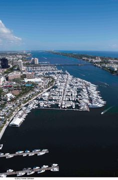 The Palm Beach International Boat Show at the West Palm Beach waterfront