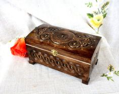 Jewelry box Wedding jewelry box Ring box Wooden box by HappyFlying