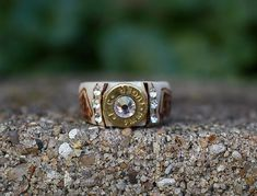 Handmade jewelry made from naturally shed deer antlers. Ammo Jewelry, Antler Jewelry, Jewelery, Bullet Shell Jewelry, Bullet Casing Jewelry, Deer Antler Ring, Antler Art, Deer Antlers, Camo Wedding Rings