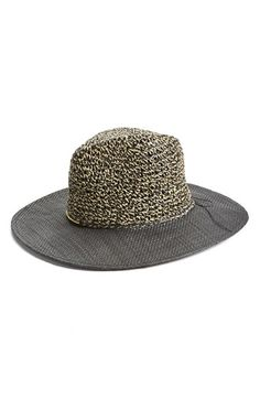 Collection XIIX Mixed Media Panama Hat