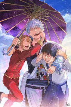 Such a happy family❤️ Manga Art, Manga Anime, Anime Art, Blue Exorcist, Samurai, Gintama Wallpaper, Anime Lock Screen, Inu Yasha, Fanart