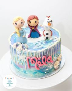 Frozen Cake  on Cake Central