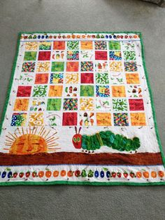 That graphic (Very Hungry Caterpillar Quilt Pattern 17 best images about quilts very hungry caterpillar quilts on) earlier me Quilt Baby, I Spy Quilt, Cot Quilt, Baby Quilt Patterns, Patchwork Patterns, Block Patterns, Hungry Caterpillar Nursery, Very Hungry Caterpillar, Caterpillar Toys