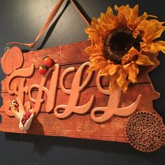 Rustic wood fall sign, fall wall art, fall home decor, fall wall decor, fall decoration, I love fall, fall colors sign, fall wall plaque, by Bedotted on Etsy