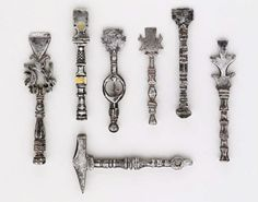 Tools for cutting button holes, 17th - 18th century. Nessi Collection, Koller auctions, 2012.