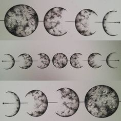 "88 Likes, 3 Comments - Roxy Horror  (@roxyhorrorart) on Instagram: ""Lunar cycle  #lunarcycle #moon #moontattoo #laluna #triplemoon #goddess #moonlore #blackwork…"""
