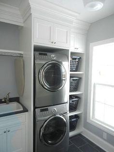 Mudroom Laundry Room, Laundry Room Shelves, Laundry Room Layouts, Laundry Room Remodel, Farmhouse Laundry Room, Laundry Room Organization, Laundry Room Design, Laundry Room With Sink, Farmhouse Small