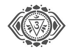 Yoga Stencil Chakra Stencil, tercer ojo Stencil, Om, símbolo de Chakra, Ohm, sánscrito, Mylar Stencil, pintura plantilla, reutilizable, pochoir, Anja