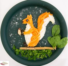 Fun food for kids squirrel
