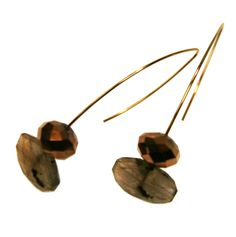 Melissa McArthur Jewellery Vintage Glass Labradourite Drop Earing in Gold Vermeil Vintage Jewelry, Neutral, Ear, Drop, Jewellery, Glass, Gold, Jewels, Drinkware
