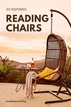 The ultimate list of comfy reading chairs to inspire bookworms in their home decor ideas. #reading #chairs #readingchairs Rattan Egg Chair, Chair Cushions, Iron Patio Furniture, Furniture Legs, Furniture Design, Pergola Swing, Porch Swing, Comfy Reading Chair, Reading Chairs