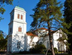 Kymi Church was built in the Empire style in 1848-1850. It was dedicated to St. John on midsummer in 1851. The altarpiece was painted in 1865. The seating capacity is 800. The bells were originally made for the church of Forsby Ironworks in 1736.