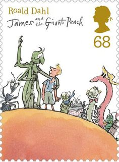 Literary Stamps: Dahl, Roald (1916-1990)  James and the Giant Peach