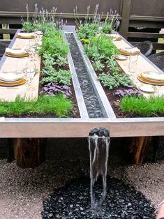 Backyard Patio Designs, Backyard Landscaping, Backyard Ideas, Providence Hospital, Small Garden Landscape, Garden Design Plans, Garden Table, Dream Garden, Outdoor Dining