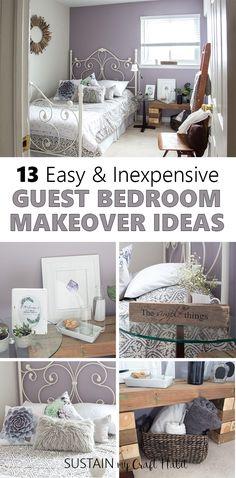 Mauve Lous Guest Bedroom Ideas: A Simple Spare Room Refresh