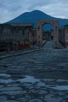 """""""Vesuvius Over Pompeii at Dusk"""" - Naples, Italy"""