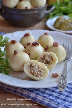 kuchnia na obcasach: Pyzy ziemniaczane z mięsem - knedle z mięsem