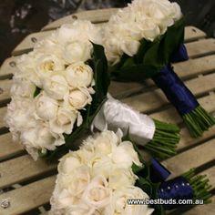 white David Austin Rose bouquets
