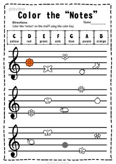 This set of 10 Music worksheets Spring themed is designed to help your students practice identifying Treble pitch. #elmused #music #musicworksheets #musiceducation # trebleclef #treblepitch #notenaming #AMStudio Music Lessons For Kids, Music Lesson Plans, Singing Lessons, Music For Kids, Piano Lessons, Singing Tips, Music Theory Worksheets, Piano Teaching, Learning Piano