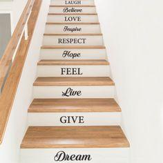 Stickers decoration contremarche escalier par Optimistick