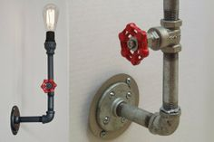 DIY Inspiration: Industrial Electrical Conduit Wall Lighting