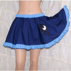 Mlp Princess Luna Applique Circle Skirt Adult All Sizes Mtcoffinz ($40) ❤ liked on Polyvore featuring skirts, grey, women's clothing, skater skirt, gray tutu skirt, flared skirt, embroidered skirt and tutu skirts