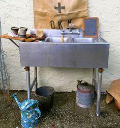 outdoor sink by garden garden and yard Pinterest Outdoor