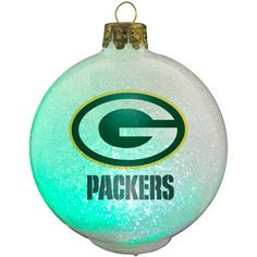 Topperscot NFL Green Bay Packers LED Color-Changing Ornament