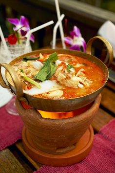 Tom Yam Kung Shrimp Soup -   Best of Thai Cuisines
