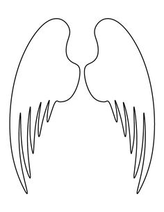 Angel wings pattern. Use the printable outline for crafts, creating stencils, scrapbooking, and more. Free PDF template to download and print at http://patternuniverse.com/download/angel-wings-pattern/