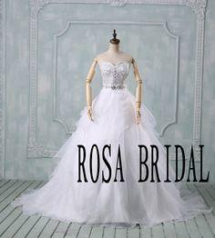 White wedding dress train  Wedding dress ball gown von rosabridal