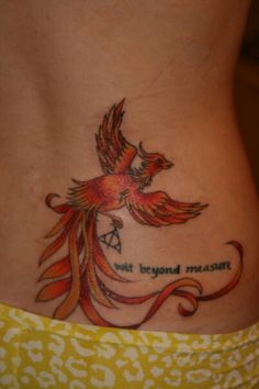 Phoenix tattoo (harry potter) just the phoenix, possible calf tat