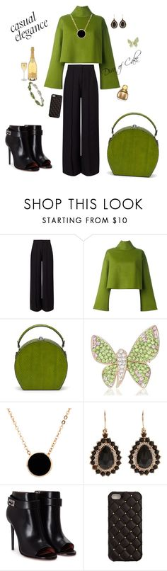 """""""Green and black outfit"""" by Diva of Cake on Polyvore featuring Miss Selfridge, Bally, Bertoni, American Apparel, Irene Neuwirth, Givenchy, 2Me Style and Honora"""