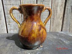 amphora style pottery vase in copper brown by VilettaLuna on Etsy, $20.00