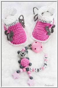 Strickparadies - Mäuschen Prinzessin- Geschenke Sparset mit Wunschnamen _098