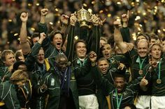 Rugby World Cup Winners 2007 South Africa - beating England in France.  Score: 15-6
