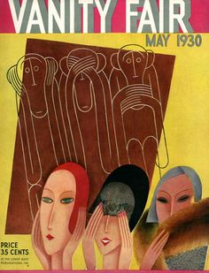 Art Deco 'Vanity Fair' magazine cover, May 1930.