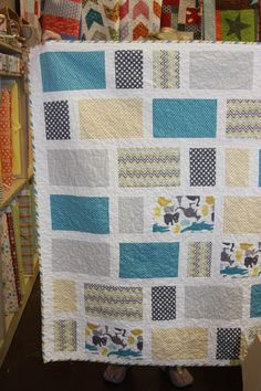 For boy or girl- quilt design.. But do with less white between