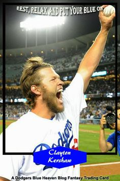 Dodgers Blue Heaven: Kershaw is the National League Player of the Week - Several New Blue Heaven Fantasy Cards