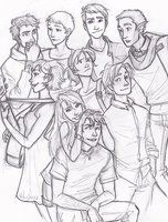 a group of friends chillin, story revolves mostly around the lives of the main couple, with side stories and such. HBC based.