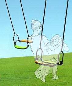Twing - Lee Ji-Sun: A concept design for a swing which allows parent and child to swing face to face and combine their energy and effort.