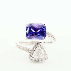 For Sale on - Certified GRS Swisslab.Here is a super nice natural violet sapphire carats from Sri Lanka (Ceylon) and diamond ring. The ring is set in white Crossover Ring, Cocktail Rings, Sri Lanka, Sapphire, Stone, Diamond, Nice, Natural, Jewelry