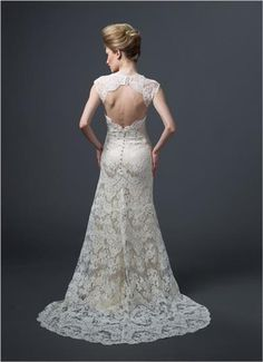 Wedding dress with rich lace