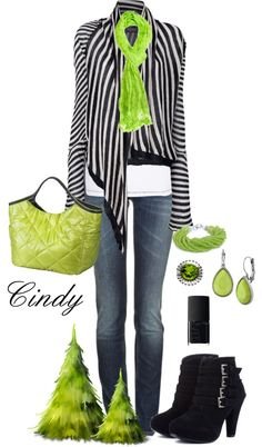 Navy and Lime green so vibrent favorite color totally ROCKS Casual Fall Outfits, Casual Wear, Cute Outfits, Winter Outfits, Winter Chic, Autumn Winter Fashion, Outfit Combinations, How To Look Classy, Glamour