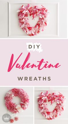 These two sweet and simple Valentine's Day wreaths from Hallmark will provide a hearty welcome to your home decor. Using muffin paper liners and ribbon scraps, this unique DIY craft makes for the perfect door accessory.