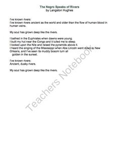 literary critique of langston hughes essay Mother to son analysis and summary by langston hughes  thanks a lot for this essay  beaming notes.