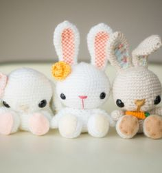 Horgolt miniatűr húsvéti / tavaszi amigurumi nyuszikák / Mindy -  kreatív ötletek és dekorációk minden napra
